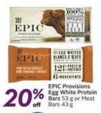 Epic Provisions Egg White Protein Bars