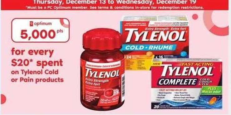 Tylenol Cold Or Pain Products
