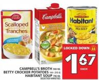 Campbell's Broth Or Betty Crocker Potatoes Or Habitant Soup