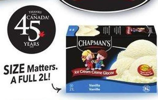 Select Chapman's Products Original 2l - Canadian Collection - Sweet Options -