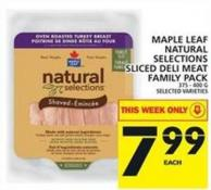 Maple Leaf Natural Selections Sliced Deli Meat Family Pack