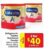 Enfagrow A+ Toddler Nutritional Nutritional Powder