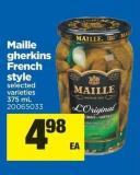 Maille Gherkins French Style - 375 mL