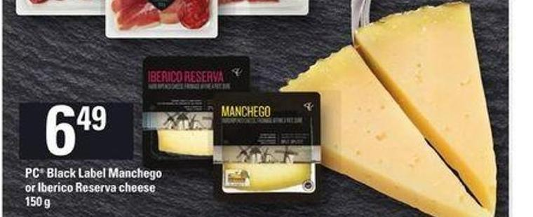PC Black Label Manchego Or Iberico Reserva Cheese - 150 g