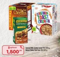 General Mills Jumbo Cereal 790 - 1300 g - Nature Valley Club Pack 780 - 1472 g
