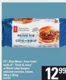 PC - Blue Menu - Free From - Loads Of - Thick & Juicy Or Black Label Burgers - 568 G-1.36 Kg