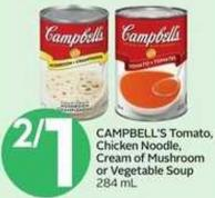 Campbell's Tomato - Chicken Noodle - Cream Of Mushroom Or Vegetable Soup - 284 mL
