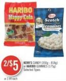Kerr's Candy (350g - 818g) or Haribo Gummies (175g)