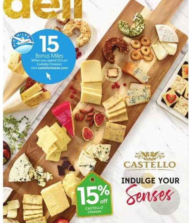 Castello Cheeses - 15 Air Miles Bonus Miles