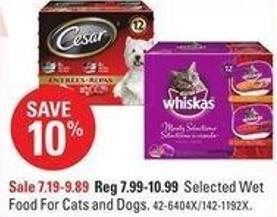 Selected Wet Food For Cats and Dogs