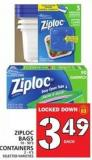 Ziploc Bags 10 - 90's Or Containers 2 - 4's