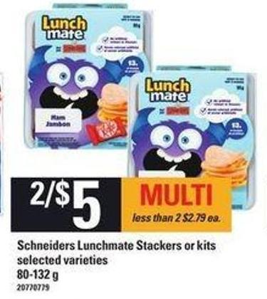 Schneiders Lunchmate Stackers Or Kits - 80-132 G