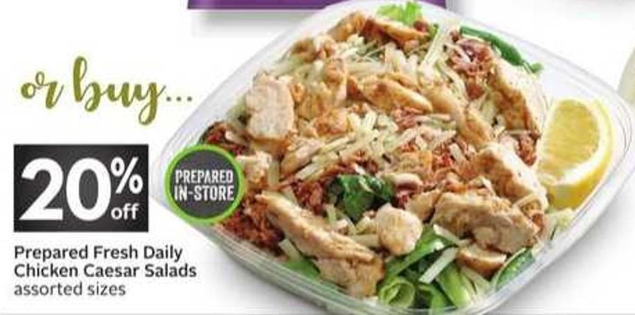 Prepared Fresh Daily Chicken Caesar Salads