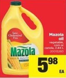 Mazola Oil Vegetable - Corn Or Canola - 2.84 L