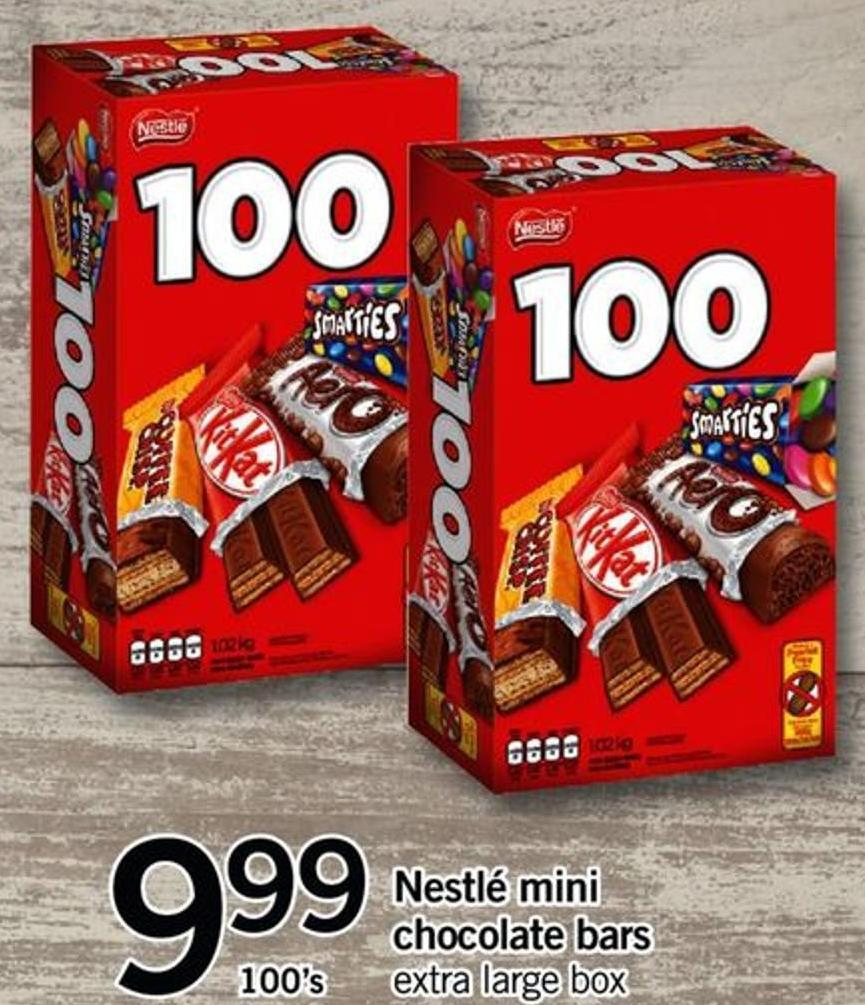 Nestlé Mini Chocolate Bars - 100's