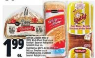 Dempster's White Or 100% Whole Wheat Bread - Bagels Or D'italiano Buns