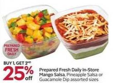 Prepared Fresh Daily In-store Mango Salsa