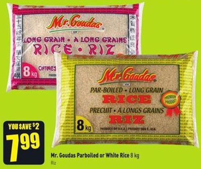 Mr. Goudas Parboiled or White Rice 8 Kg