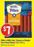 Piller's Mild - Hot - Turkey or Simply Free Meat Sticks 300-500 g