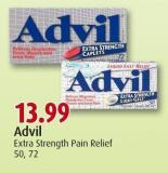 Advil Extra Strength Pain Relief 50 - 72