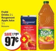Fruité Drinks 2 L Rougemont Apple Juice 1 L