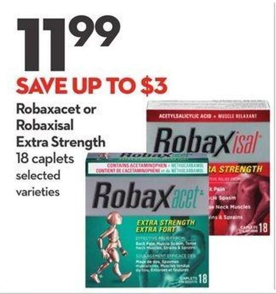 Robaxacet or Robaxisal Extra Strength