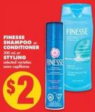 Finesse Shampoo or Conditioner - 300 mL or Styling