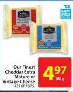 Or Finest Cheddar Extra Mature or Vintage Cheese