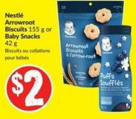 Nestlé Arrowroot Biscuits 155 g or Baby Snacks 42 g