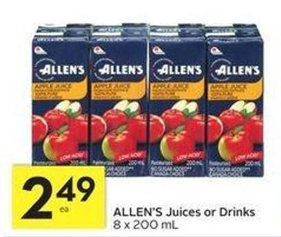 Allen's Juices or Drinks