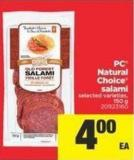PC Natural Choice Salami - 150 g