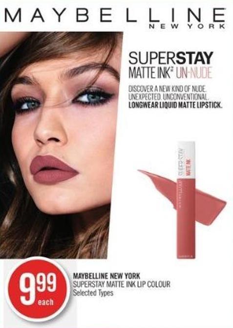Maybelline New York Superstay Matte Ink Lip Colour