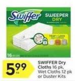 Swiffer Dry Cloths 16 Pk - Wet Cloths 12 Pk or Duster Kits