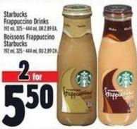 Starbucks Frappuccino Drinks 192 ml - 325 - 444 ml Or 2.89 Ea.