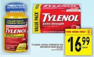 Tylenol Extra Strength Or Arthritis Pain Relief