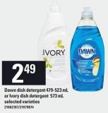 Dawn Dish Detergent 479-523 Ml Or Ivory Dish Detergent 573 Ml