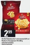 Orville Redenbacher's Microwave - 6/8's Or Ready-to-eat Popcorn - 116-200 g