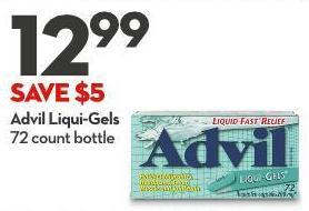 Advil Liqui-gels 72 Count Bottle