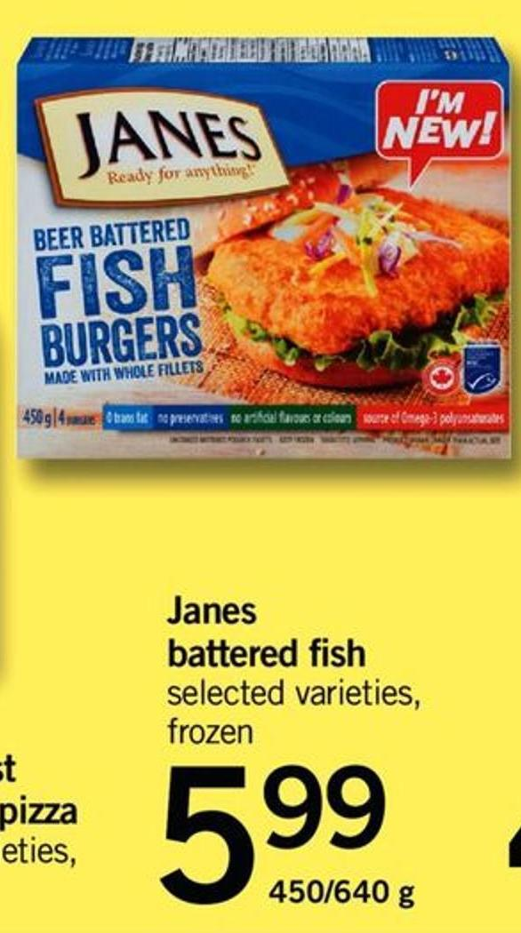Janes Battered Fish - 450/640 G