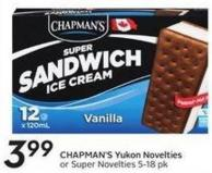 Chapman's Yukon Novelties or Super Novelties