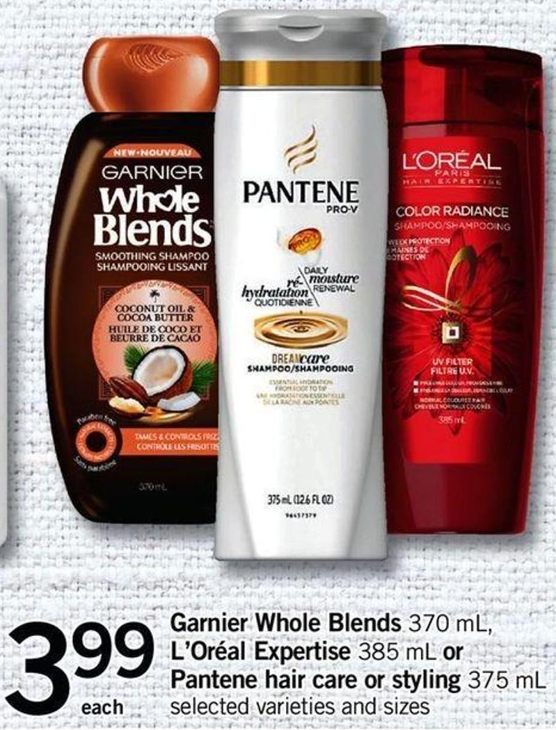 Garnier Whole Blends - 370 Ml - L'oréal Expertise - 385 Ml Or Pantene Hair Care Or Styling - 375 Ml