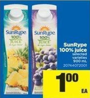 Sunrype 100% Juice - 900 Ml