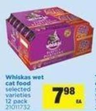 Whiskas Wet Cat Food - 12 Pack