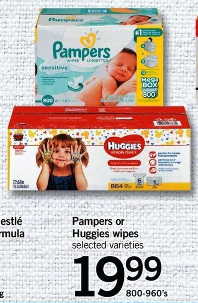 Pampers Or Huggies Wipes - 800-960's