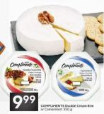 Compliments Double Cream Brie or Camembert 350 g