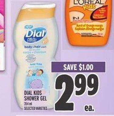 Dial Kids Shower Gel