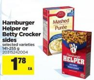 Hamburger Helper Or Betty Crocker Sides - 141-255 g