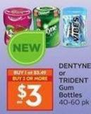 Dentyne or Trident Gum Bottles