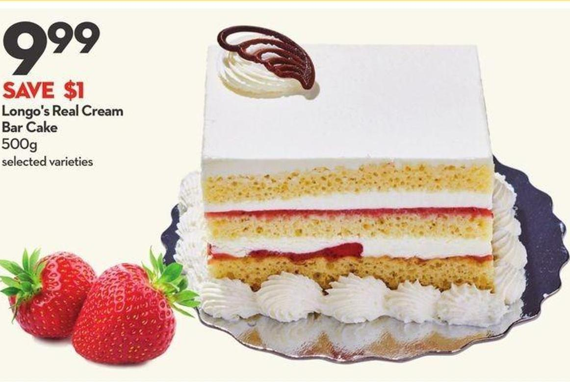 Longo's Real Cream Bar Cake