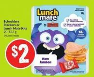 Schneiders Stackers or Lunch Mate Kits 90-132 g
